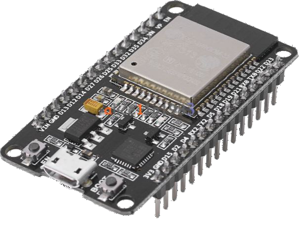 The esp32 development module